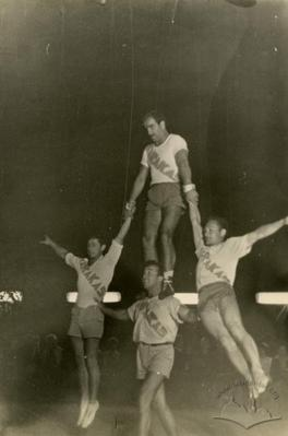 Виступ гімнастів у літньому таборі Львівської політехніки