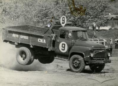 Automobile GAZ-52 participating in autocross competitions