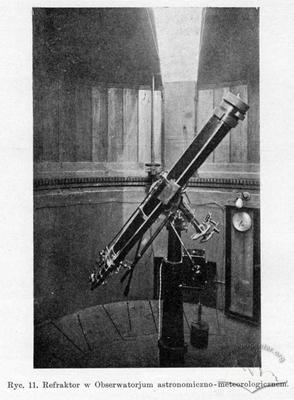 Refractor in Astronomical-meteorological observatory