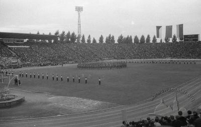 "Opening ceremony of the First festival of Soviet-Czech friendship at ""Druzhba"" stadium"