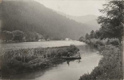 Boat on Opir river