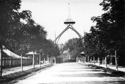 Entrance to Kilinski park from Pulaskoho street (Parkova street now)