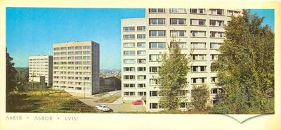 New buildings in the corner of Verkhnyozelena and Krimska Streets