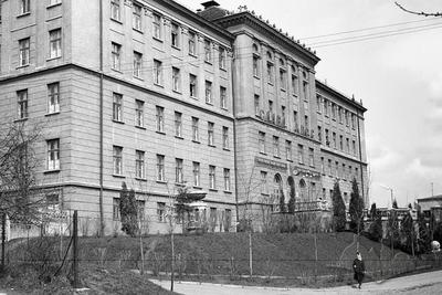 """Building of Electromechanical technical college on Pushkina street, 130, now it is College of Technology of Lviv State University """"Lviv Politechnic"""" on Gen. Chuprynky street, 130"""