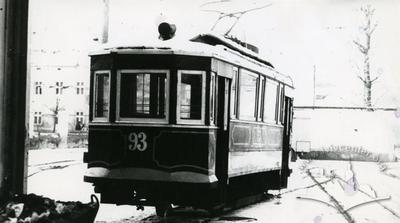 """Tramcar """"Sanok"""" №093 in depot on Horodotska street"""