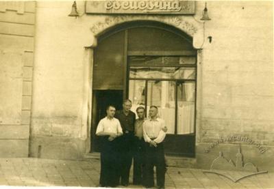 Sausage cafe at 3 Stepana Rudanskoho street