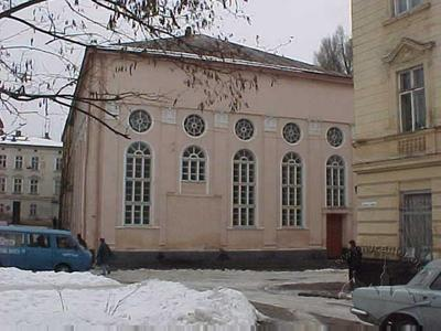 The former Hasidic Synagogue