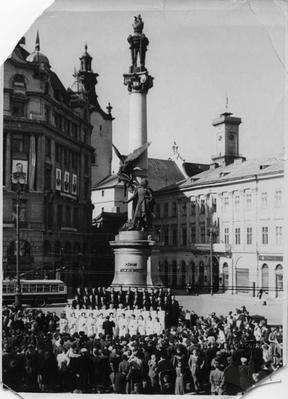 Performance of a Choral Society at the Adam Mickiewicz Monument