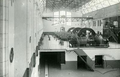 Turbine hall of the Lviv electrical station