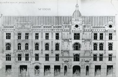 Building at 6 Chaikovskoho st. Drawings of the façade