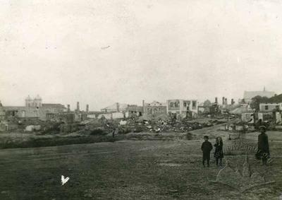 Вид спаленої 2.Х. 1914 єврейської дільниці Городенки