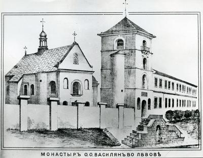 St. Onuphrius Church at 36 Khmelnytskoho st. Photo of the printed drowing