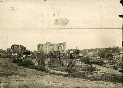 Зруйновані 2.Х.1915 будинки єврейської дільниці Городенки