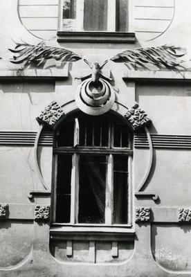 Fragment of the façade at 124 Franka St.