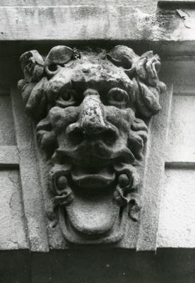 Mascaron of a lion at 89 Franka St.