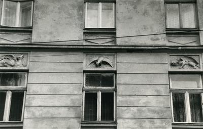 Windows on the façade at 71 Franka St.