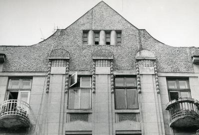 Uppermost part of the building at 116 Franka St.