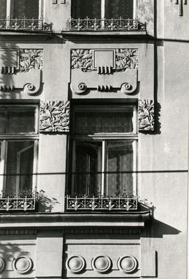 Windows on the façade at 66 Franka St.