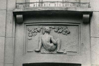 Man bas-relief at 37 Franka St.