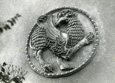 Medallion decoration on a building façade