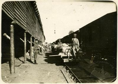 The Process of Unloading The Freight Train
