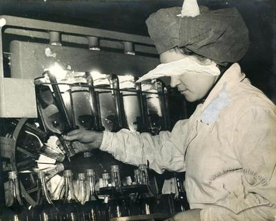 Wine Factory Worker at Assembly Line