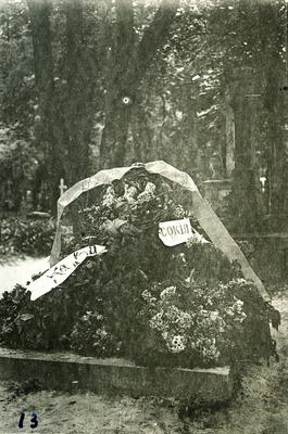 Wreaths on the grave of Ivan Franko