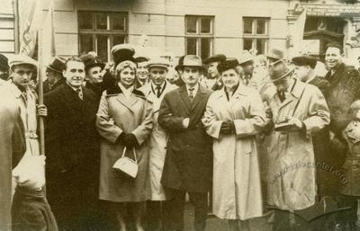 Lviv citizens at a demonstration