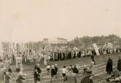 Sports Spartakiade at the SKA stadium in Lviv