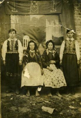 Women in a folk clothes