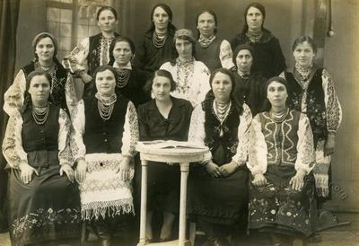 Members of Ukrainian Women Union in a folk clothes