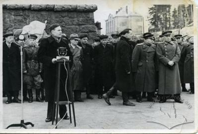 Opening of Monument to the Tank Guardsmen