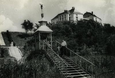 Bridge with gazebo