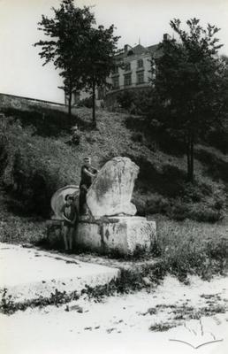 Lion statue near Oleskyi castle