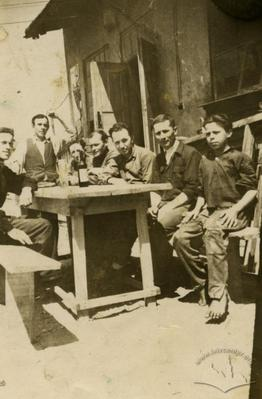 Smoke break in a joiners shop at Volynska street, 20