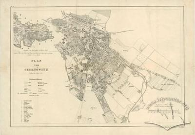 Map of Czernowitz. Supplemented in 1880