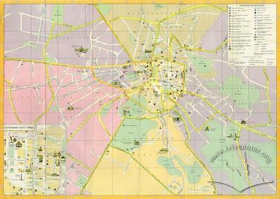 Lvov. Tourist map