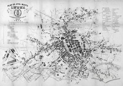 Plan of the Royal and Capital City of Lwow with data on new names of streets and squares