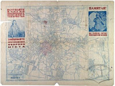 Схематичний план міста Львова