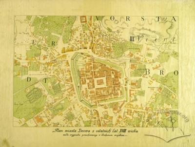 Plan of the City of Lwow from the Final Years of the 18th Century