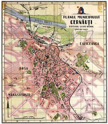 Map of the City of Cernăuţi