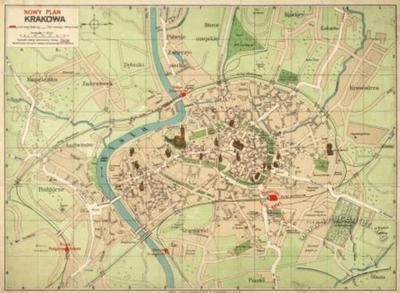 New map of Krakow