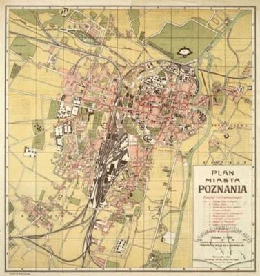 Map of the City of Poznan