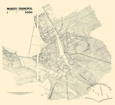 City of Tarnopol. Situational-Contour Map