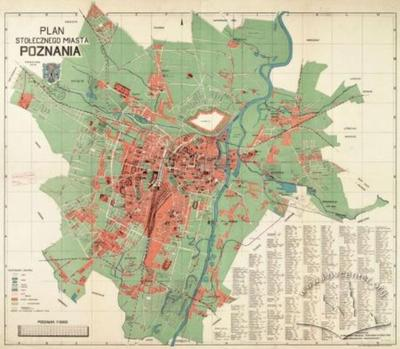Plan of the Capital City of Poznan