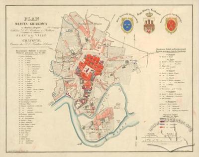 План міста Кракова довкола окопів
