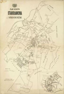 Map of the city of Stanislawow and Knihinin