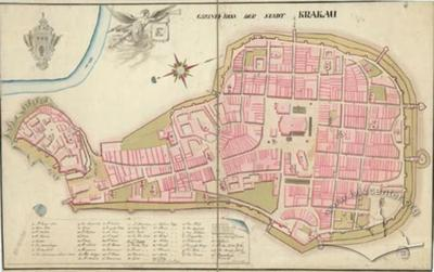 Ground Plan of the city of Krakau