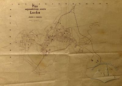 Map of the city of Lutsk