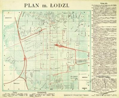 Map of the City of Lodz